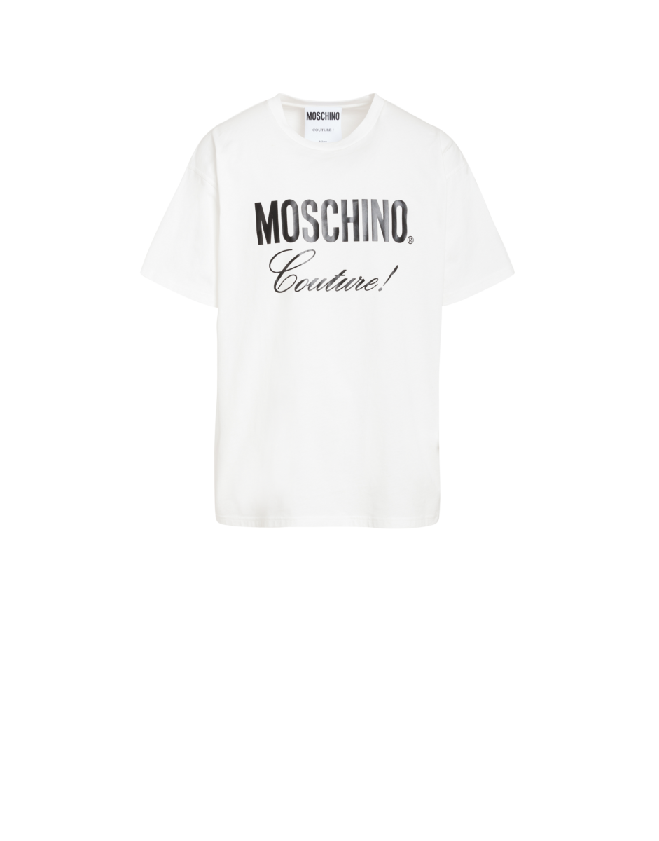 Moschino Men's Moschino Couture Jersey T-Shirt White MEN Men FASHION Mens T-SHIRTS