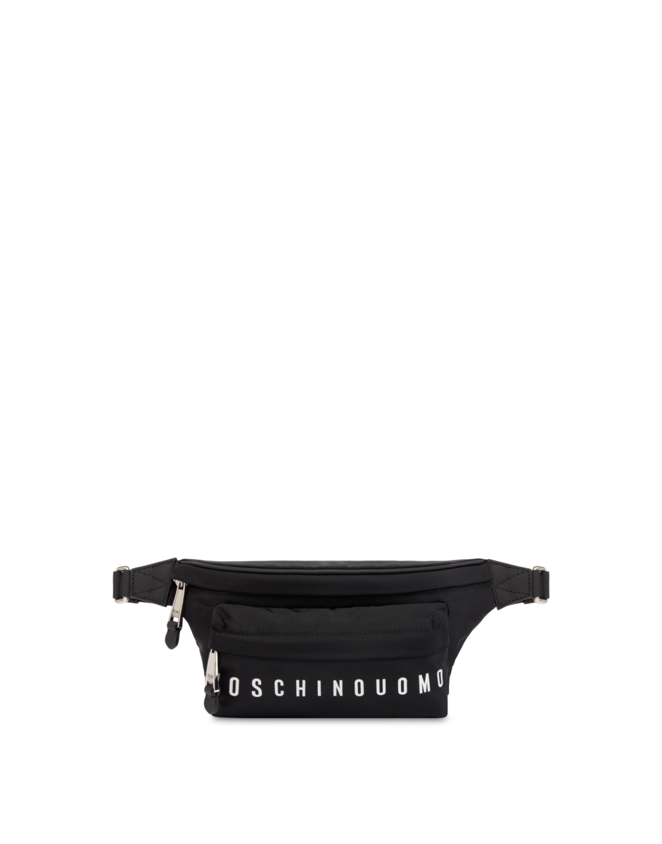 Moschino Men's Moschino Uomo Nylon Waist Black MEN Men ACCESSORIES Mens BAGS