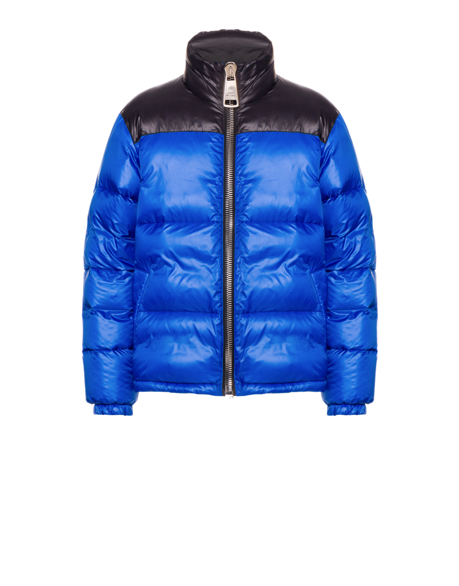 Moschino Men's Nylon Down Jacket With Blue MEN Men FASHION Mens JACKETS