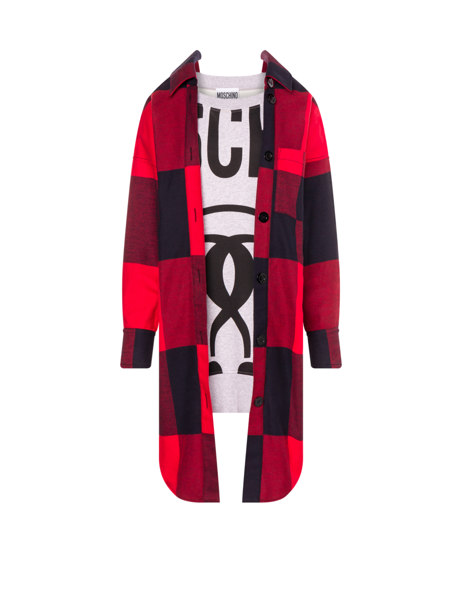 Moschino Women's Check Flannel And Fleece Red WOMEN Women FASHION Womens DRESSES