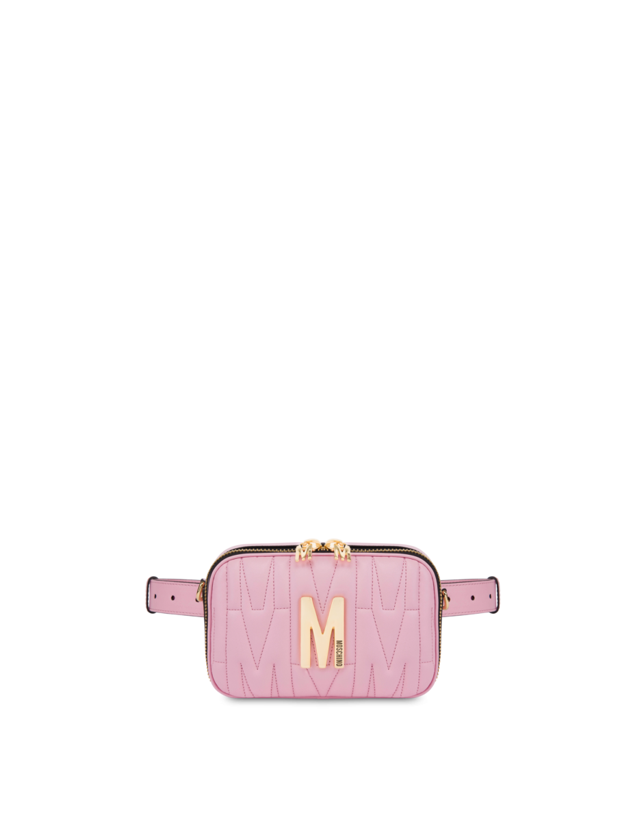 Moschino Women's M Quilted Waist Bag Pink WOMEN Women ACCESSORIES Womens BAGS
