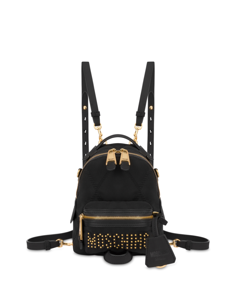 Moschino Women's Mini Quilted Backpack With Black WOMEN Women ACCESSORIES Womens BAGS