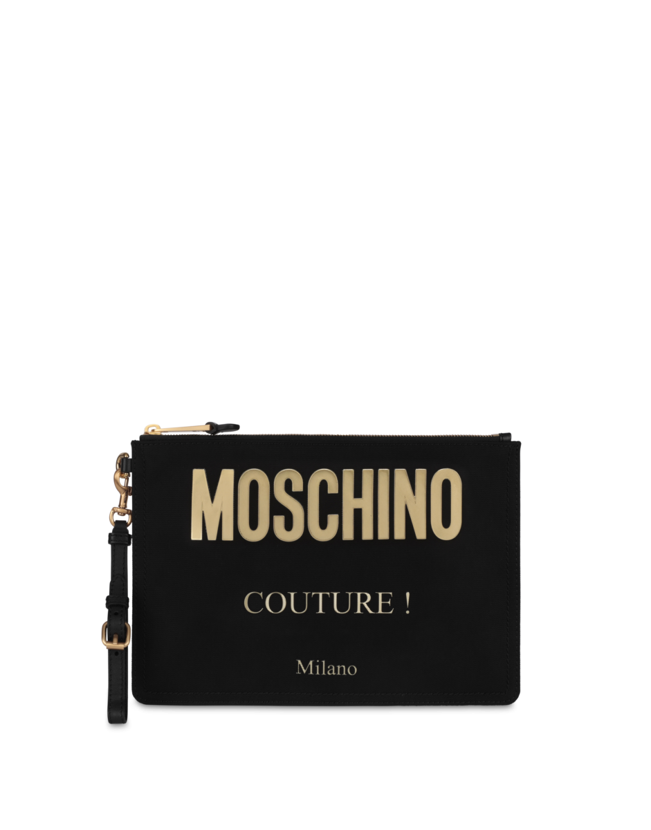 Moschino Women's Moschino Couture Cordura Nylon Black WOMEN Women ACCESSORIES Womens BAGS