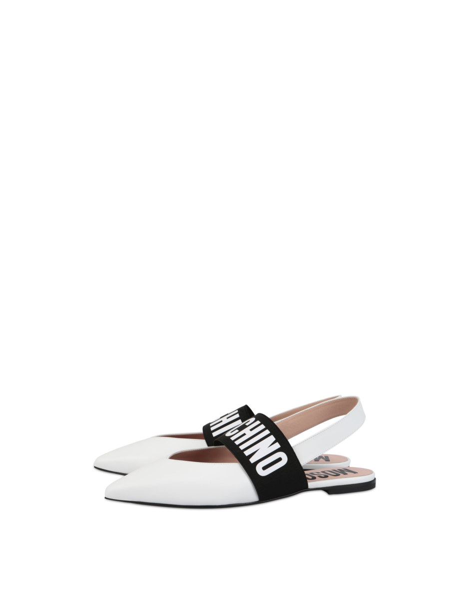 Moschino Women's Mules With Low Heel White WOMEN Women SHOES Womens SLIPPERS