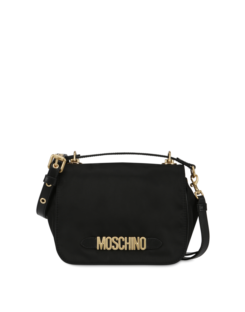 Moschino Women's Shoulder Bag With Brushed Black WOMEN Women ACCESSORIES Womens BAGS