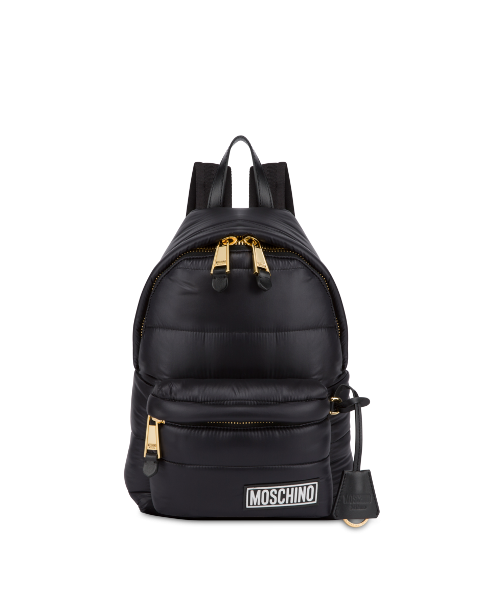 Moschino Women's Small Quilted Nylon Backpack Black WOMEN Women ACCESSORIES Womens BAGS