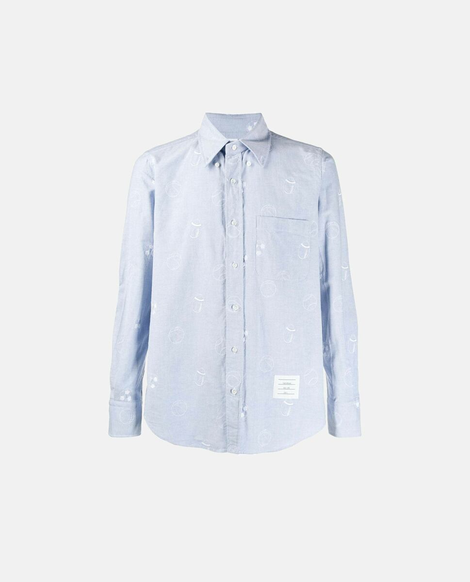 Thom Browne Shirt with embroidery Azure Biffi UK MEN