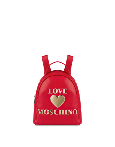 Love Moschino Women's Padded Heart Small Backpack Red WOMEN Women ACCESSORIES Womens BAGS