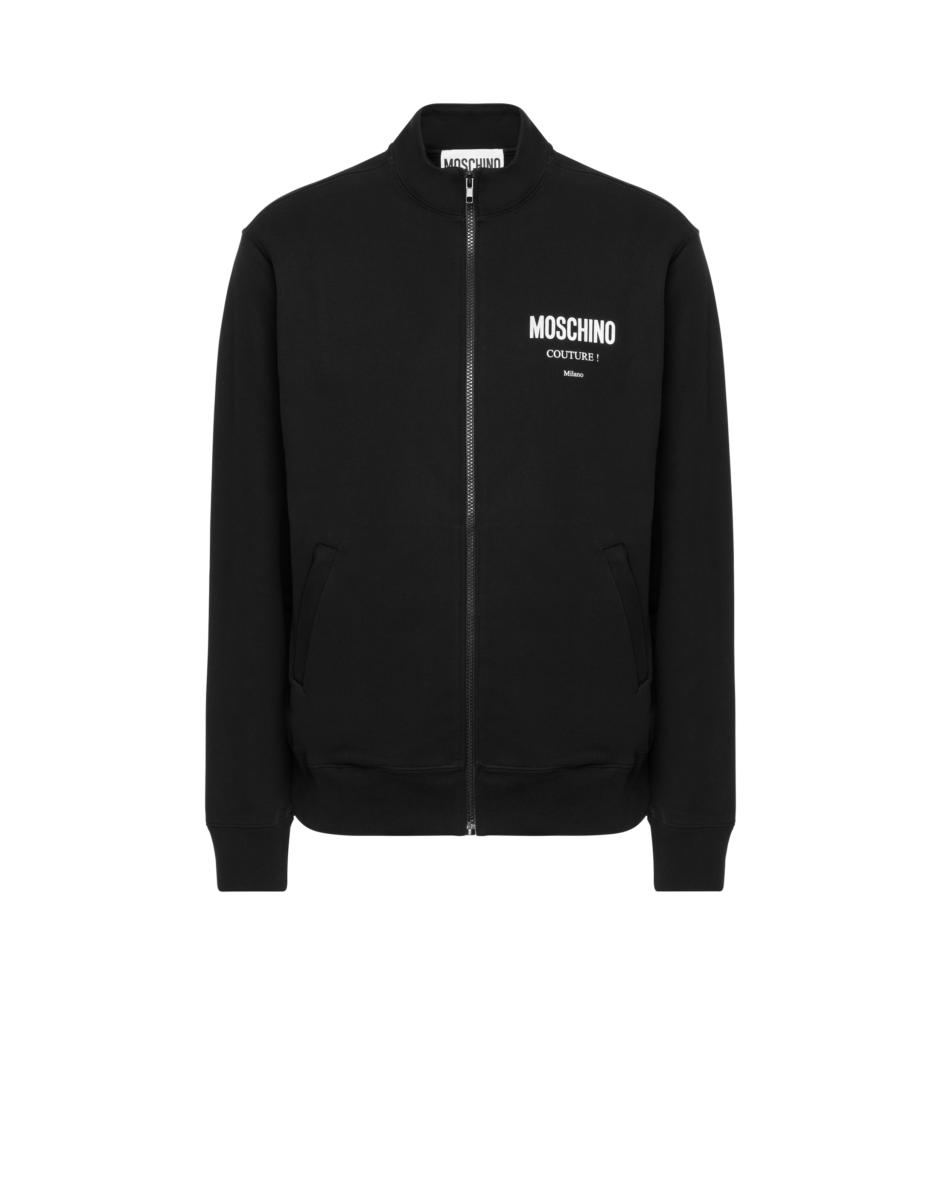 Moschino Men's Moschino Couture Cotton Sweatshirt Black MEN Men FASHION Mens SWEATERS